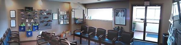 Fenton Footcare's Office and Waiting Room