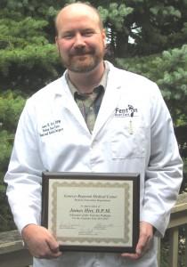 Dr Hirt and award