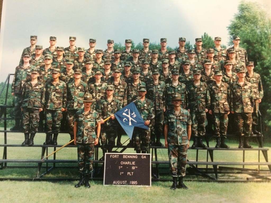 Picture of Dr. Hirt's graduating boot camp class, I bet no one can pick out Dr. Hirt.