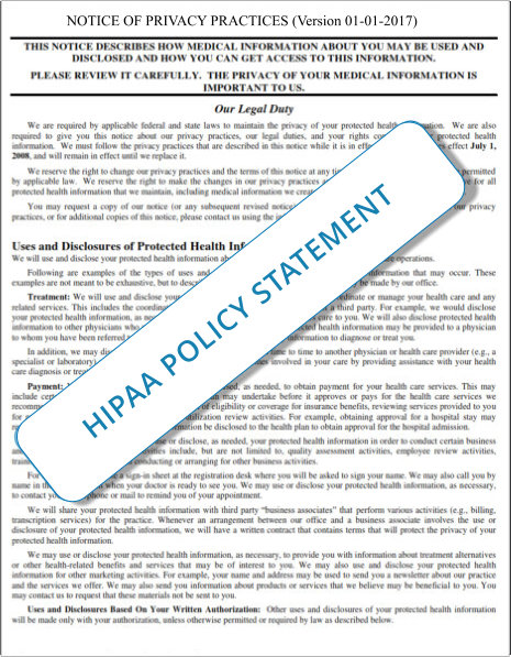 HIPAA - Authorization Policy and Procedure Handouts 1-1-2017f